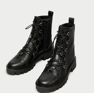 Black Moto Zara Boots